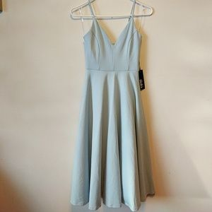 NWT Lulus Light Blue Midi Dress